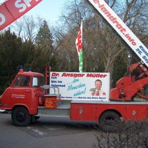 Der Feuerwehrwagen von Dr. Ansgar Müller, ein Hanomag- Markant