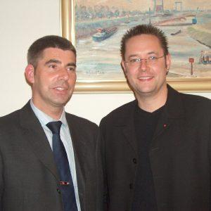 Günter Hinnemann, der neue Vorsitzende des SPD Ortsvereins Friedrichsfeld/Spellen (links im Bild) und sein Stellvertreter Achim Gregorius (rechts im Bild)