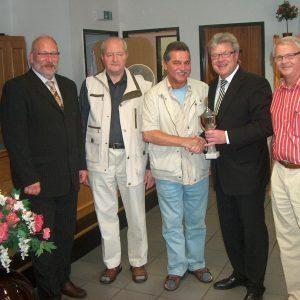 Die Gewinner des AfA Skatturniers 2008 mit MdB Dr. Hans- Ulrich Krüger und dem AfA Vorsitzenden Manfred Sanders